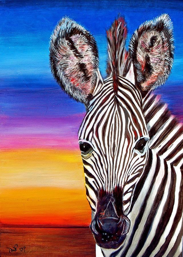 Zebra Painting - African Zebra Aura by Donna Proctor