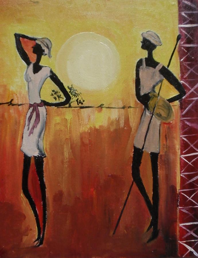Abstract Painting - Afro Abstract by Shilpa Mehta