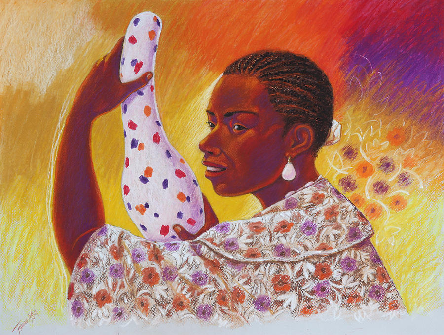 Afro-american Valley Of Chota Painting by Tarquino Mejia