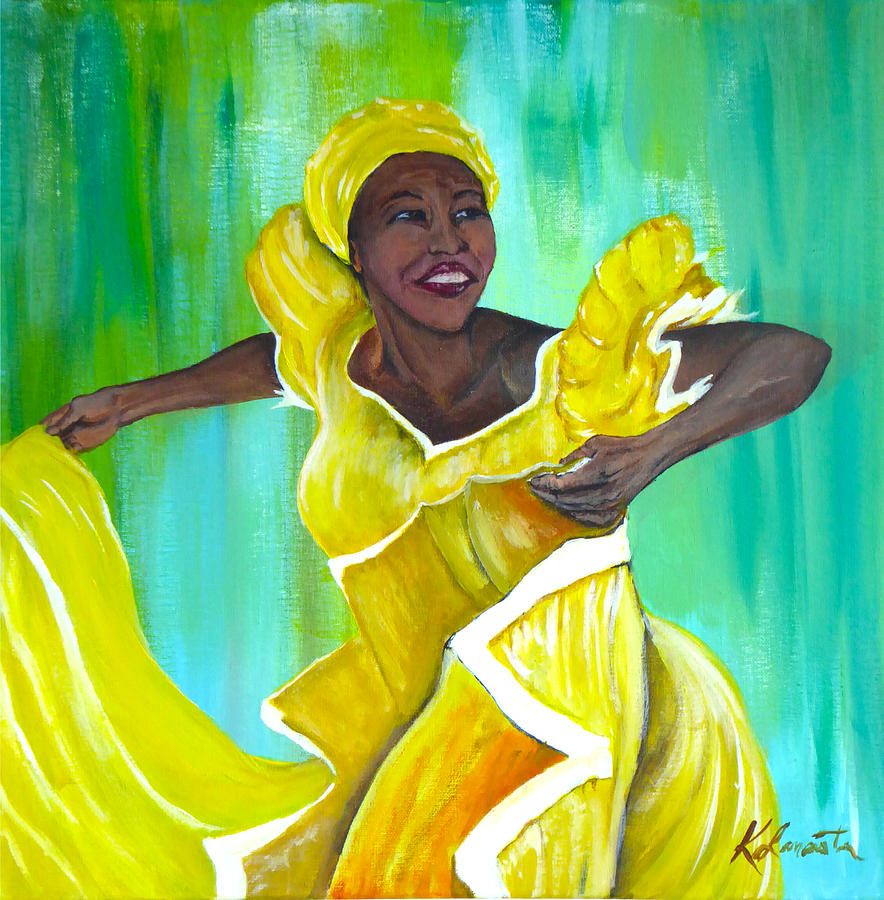 Afro Cuban Dancer Painting by Kevin Lancaster