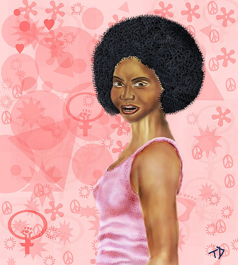 Women Digital Art - Afro by T D