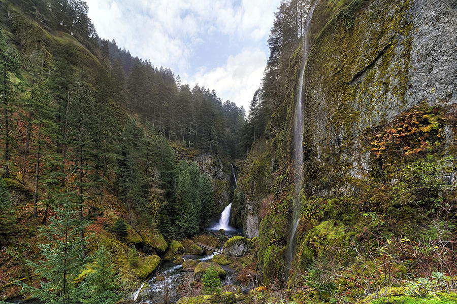 Wahclella Falls Photograph - After A Rainstorm by David Gn