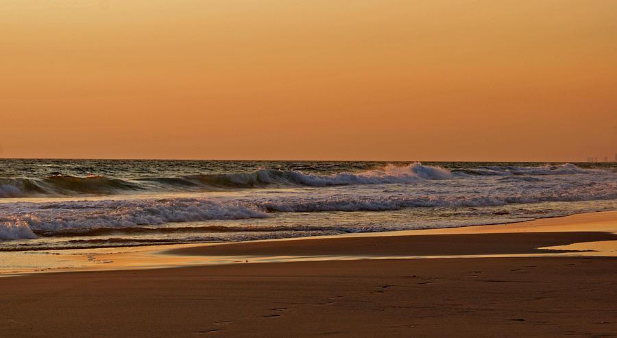 Beach Photograph - After A Sunset by Sandy Keeton