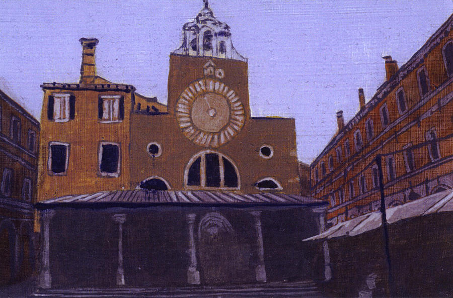 Landscape Painting - After Campo San Giacometto by Hyper - Canaletto