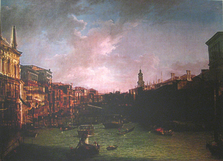 Landscape Painting - After Canal Grande Looking Northeast by Hyper - Canaletto