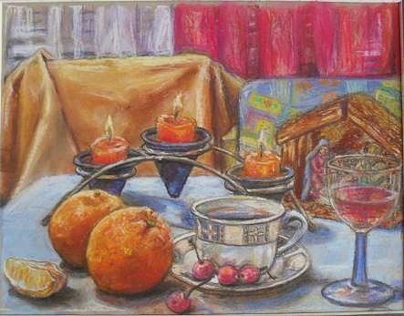Drawings Drawing - After Christmas Morning by Gordana Dokic Segedin