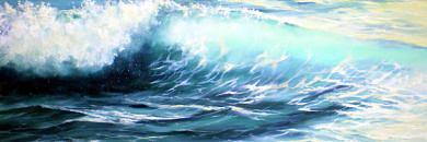Wave Painting - After Daybreak by Nancy  Hogan Armour