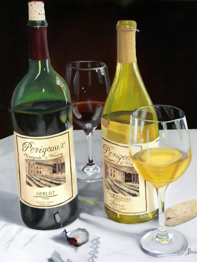 Wine Art Paintings Painting - After Five by Brien Cole