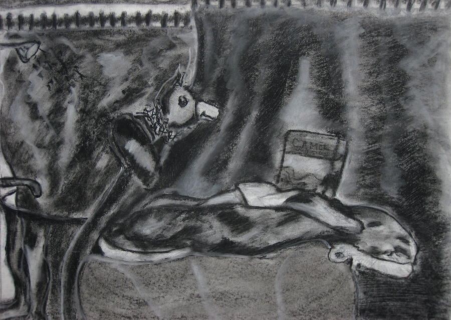 After Fuseli The Nightmare Drawing by Darkest Artist