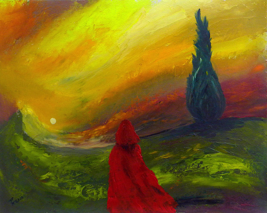 Red Painting - After Grandmas by David McGhee