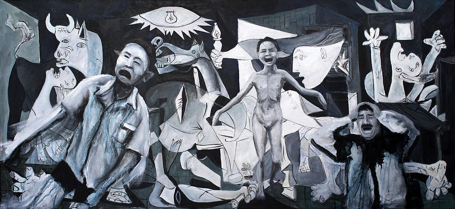 Guernica Painting - After Guernica by Michelle Barone