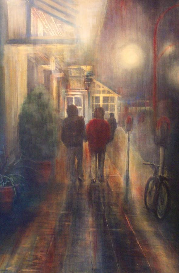 People Painting - After Hours by Victoria Heryet