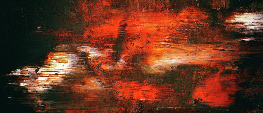 After Midnight - Black Orange And White Contemporary Abstract Art by Modern Abstract