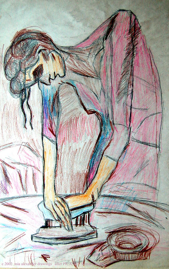 after Picasso  Woman Ironing by Mia Alexander