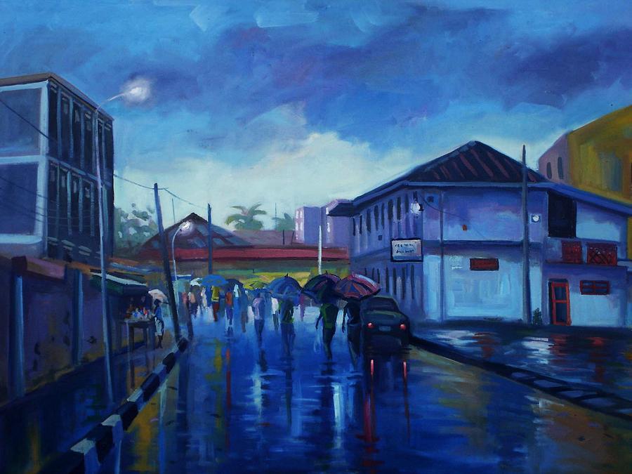 After Rain Painting - After Rain by Aderonke ADETUNJI