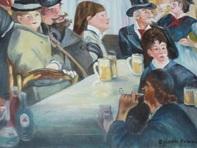 Renoir Painting - After Renoir And Manet by Eileen Kasprick