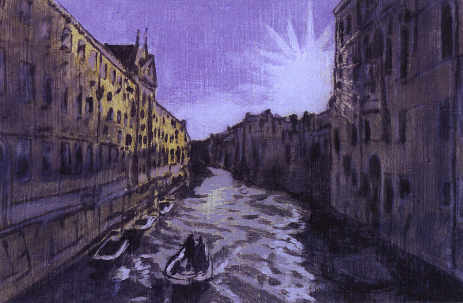 Landscape Painting - After Rio Dei Mendicanti Looking South by Hyper - Canaletto