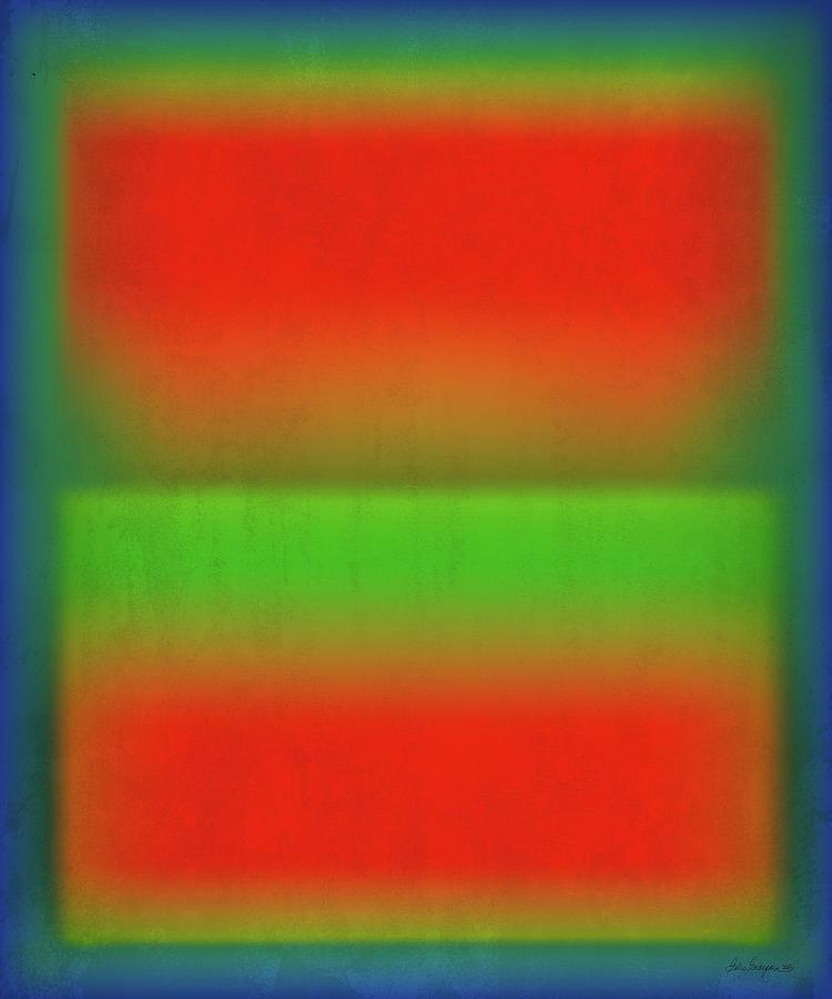 Digital Digital Art - After Rothko Tall 4 by Gary Grayson