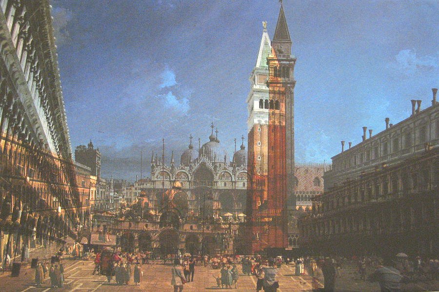 Landscape Painting - After St. Marks Square by Hyper - Canaletto