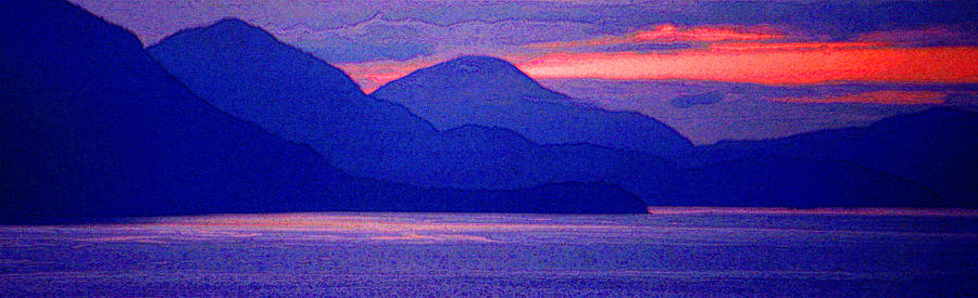 Pacific Photograph - After Sunset Mountains 5 Pd by Lyle Crump
