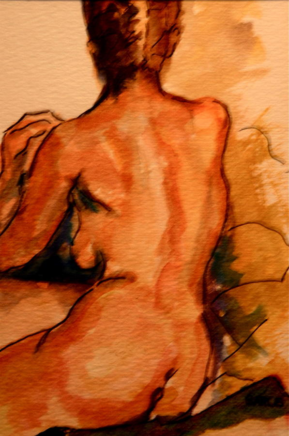 Female Painting - After The Bath by Dan Earle