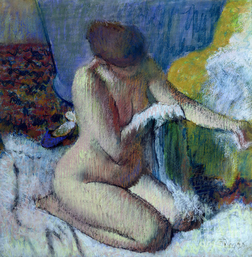 After Painting - After the Bath by Edgar Degas