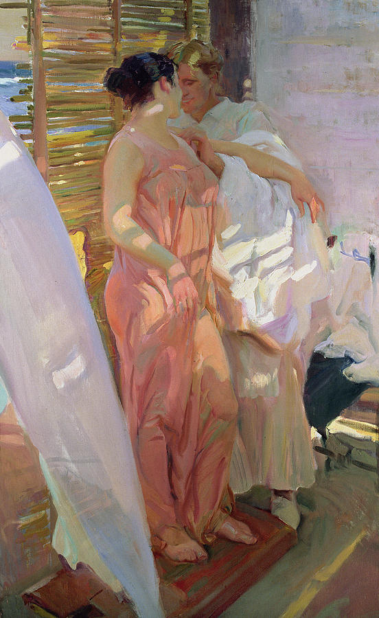 After The Bath Painting - After The Bath by Joaquin Sorolla y Bastida