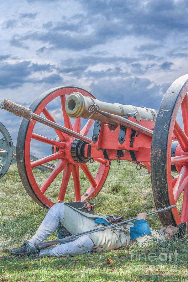 Cannon Digital Art - After The Battle by Randy Steele