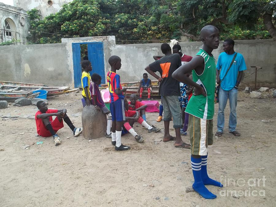 Yesayah Photograph - After The Game - Goree Boys by Fania Simon