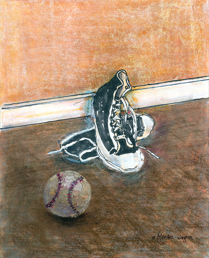 Tennis Shoes Mixed Media - After The Game by Arline Wagner