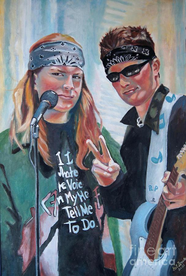 Music Painting - After The Gig by Gail Zavala