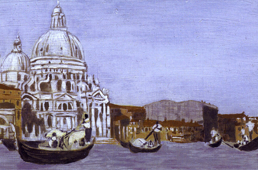 Landscape Painting - After The Grand Canal And The Church Of The Salute by Hyper - Canaletto