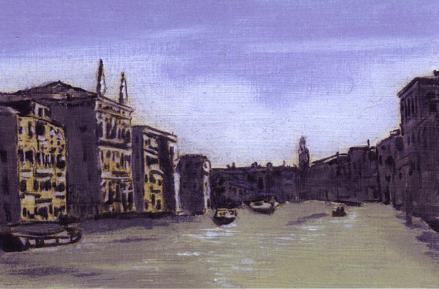 Landscape Painting - After The Grand Canal From Campo San Vio Near The Rialto Bridge by Hyper - Canaletto
