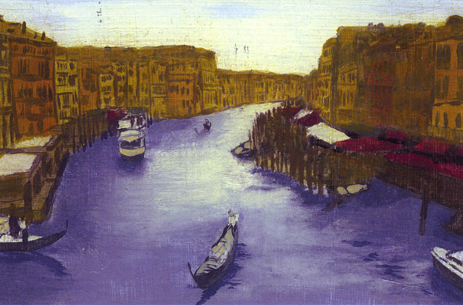 Landscape Painting - After The Grand Canal From The Rialto Bridge by Hyper - Canaletto