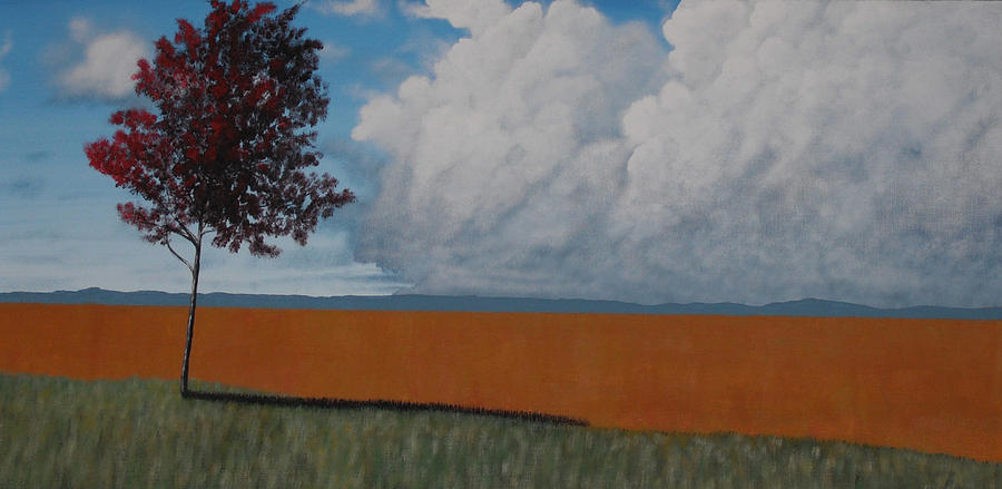 Landscape Painting - After The Harvest by Candace Shockley