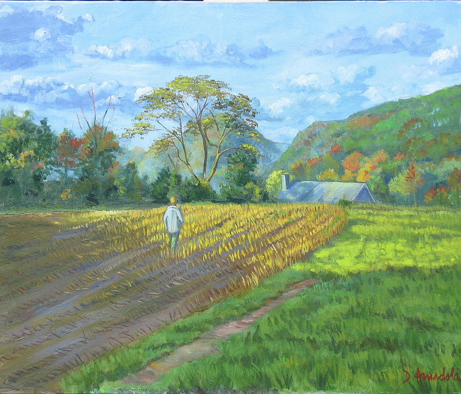 Harvest Painting - After The Harvest by Dominique Amendola