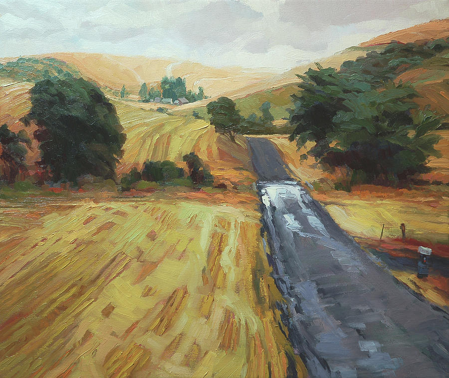 After The Harvest Rain Painting