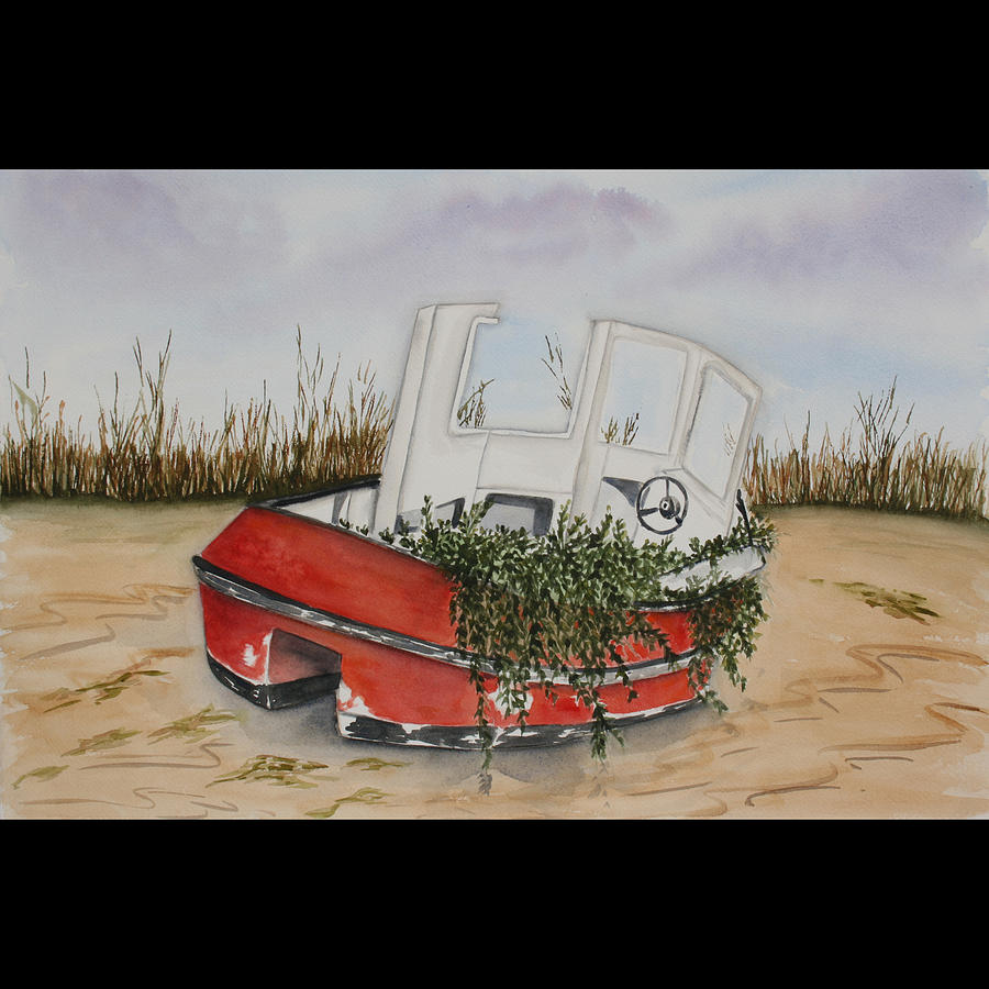 Boat Painting - After The Hurricane by Susan Vaughan