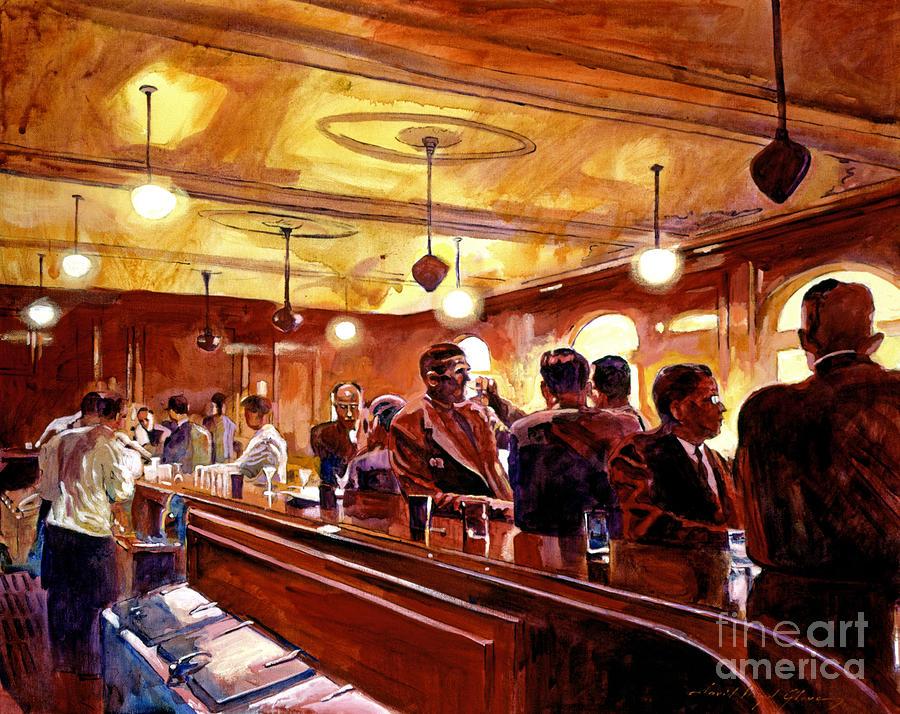 Bars Mixed Media - After The Market Closes by David Lloyd Glover
