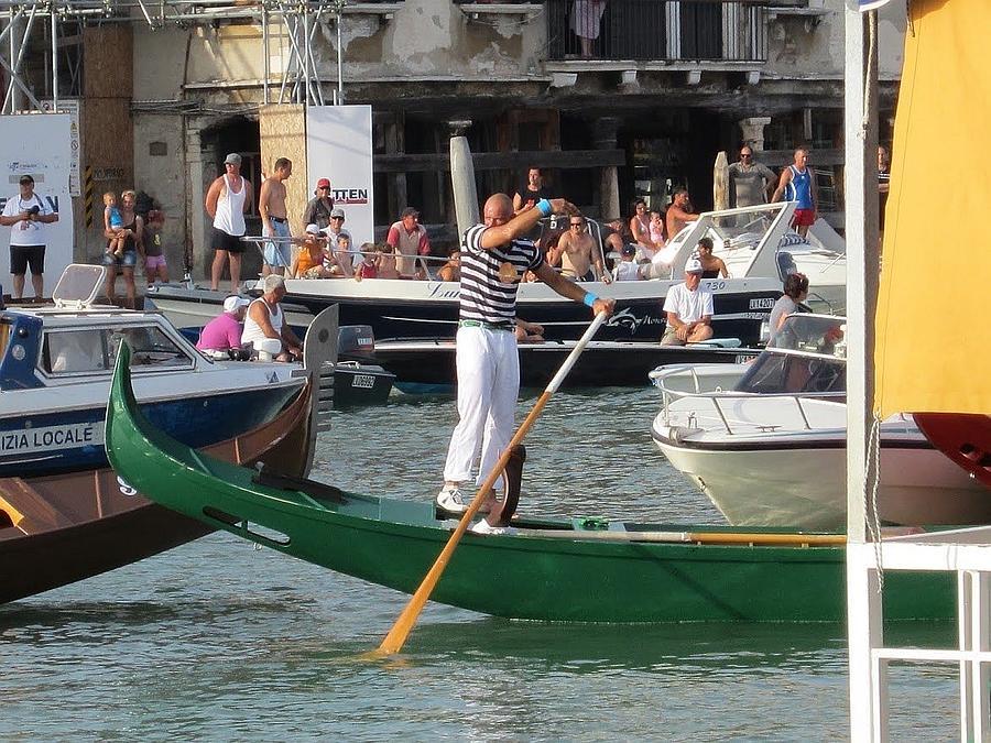 Venice Photograph - After The Race by Erla Zwingle