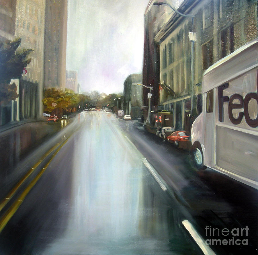 Fedex Painting - After The Rain by Barbara Wilson