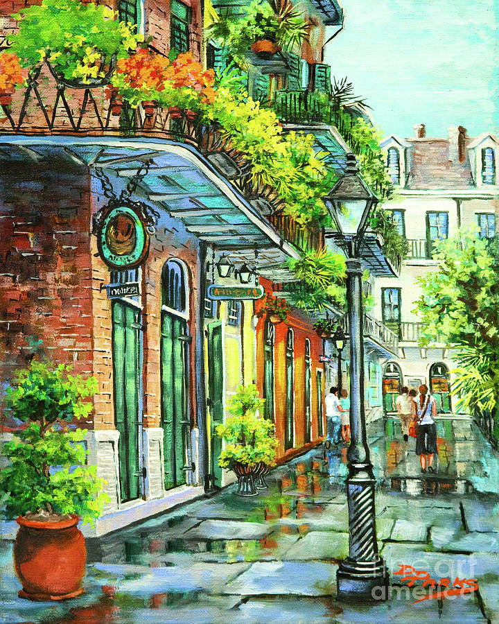 Louisiana Art Painting - After The Rain by Dianne Parks