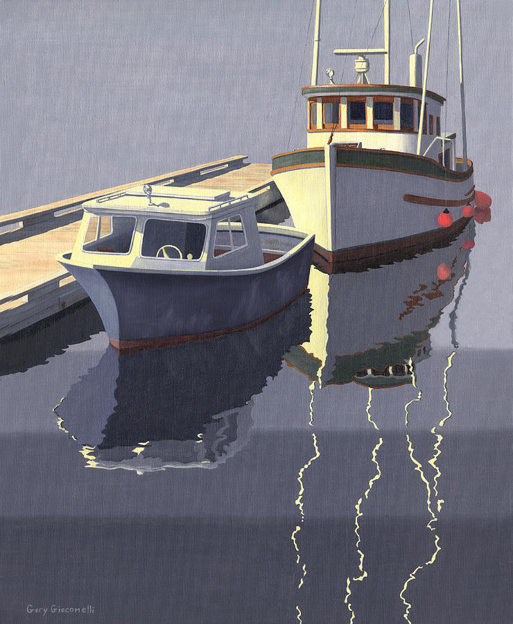 Boat Painting - After The Rain by Gary Giacomelli
