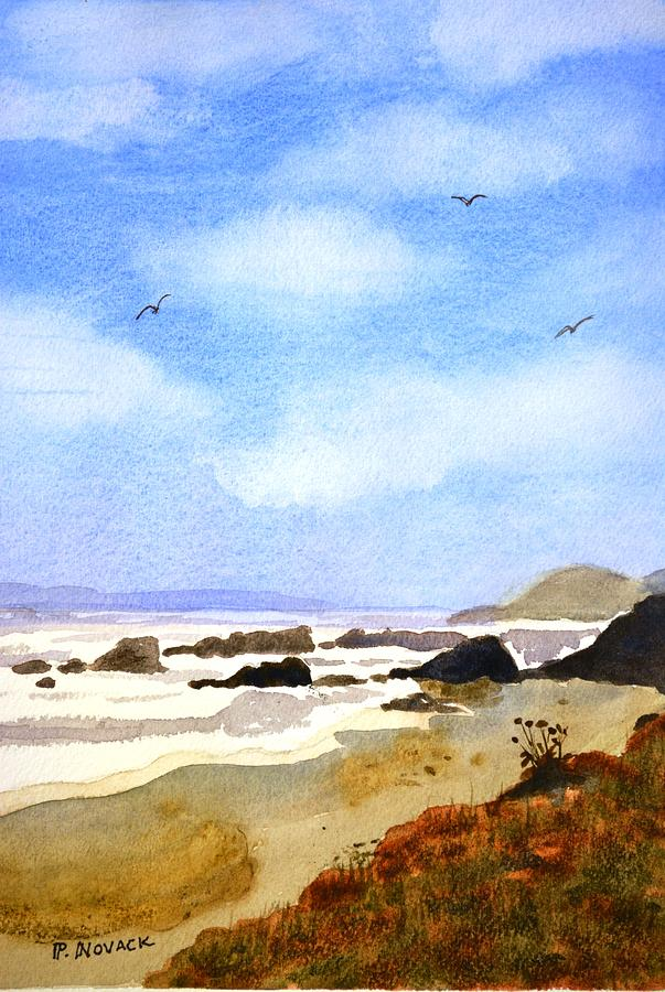 Ocean Painting - After The Rain In Oregon by Patricia Novack