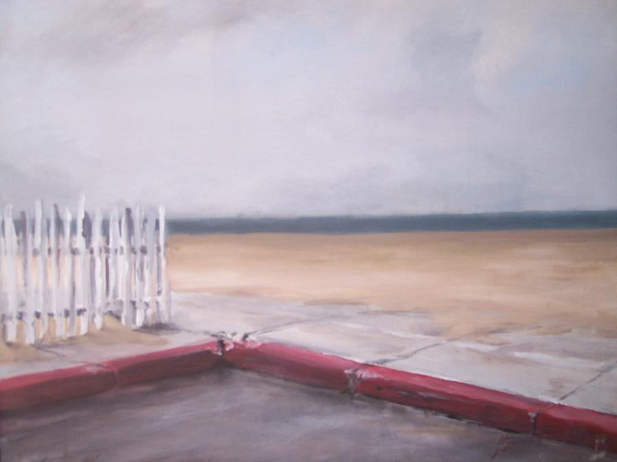 After the Rain Newport Beach Painting by Philip Fleischer