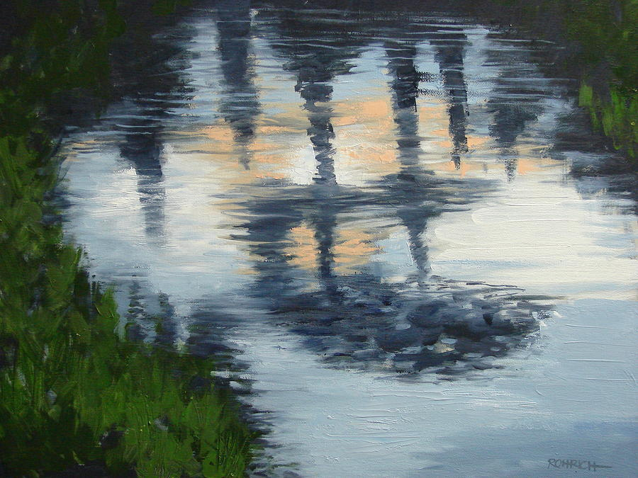 Water Reflection Painting - After The Rain by Robert Rohrich