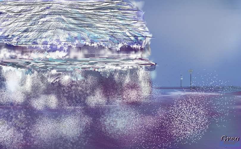 Rain Digital Art - After The Rain Water Rolls Down by Gregory Steward