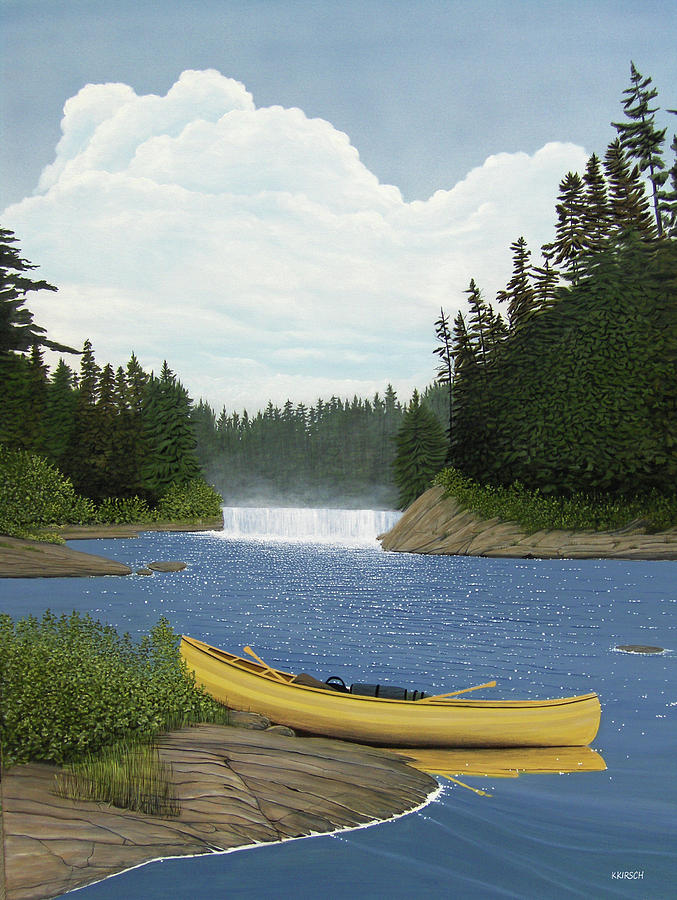 Landscapes Painting - After The Rapids by Kenneth M  Kirsch