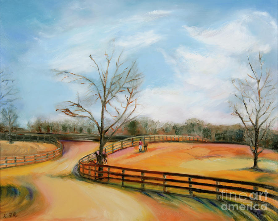 Landscape Painting - After The Ride by Karen Francis
