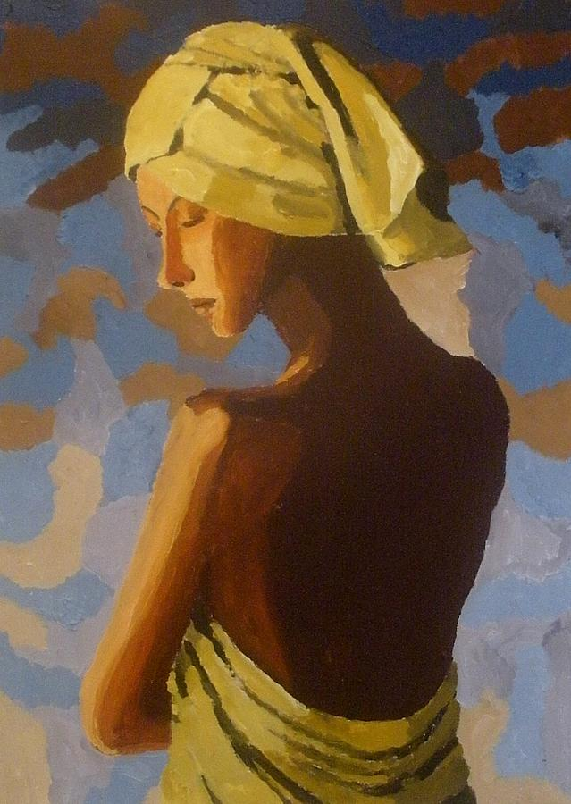 Portrait Painting - After The Shower by Mats Eriksson